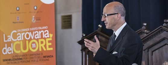 L'intervento del sindaco Claudio Ricci all'inaugurazione di Assisi